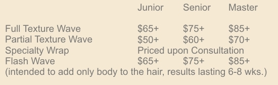 prices for our texture treatments